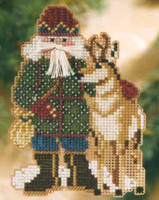 Beartooth Santa Cross Stitch Kit Mill Hill 2008 Rocky Mountain Santas