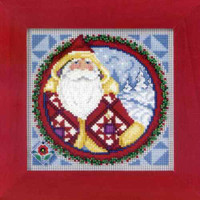 Kris Kringle 2009 Cross Stitch Kit Mill Hill 2009 Jim Shore Santas