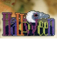 Halloween Bead Cross Stitch Ornament Kit Mill Hill 2009 Autumn Harvest