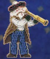 First Mate Santa Beaded Ornament Kit Mill Hill 2010 Seafaring Santas