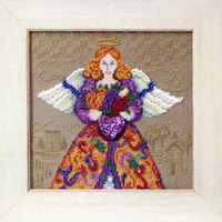 Fall Angel Beaded Cross Stitch Kit Mill Hill 2010 Jim Shore Angels