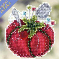 Tomato Pincushion Bead Cross Stitch Kit Mill Hill 2012 Spring Bouquet