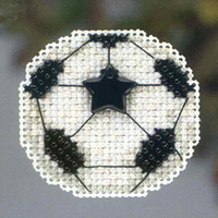 Soccer Ball Beaded Cross Stitch Kit Mill Hill 2013 Autumn Harvest