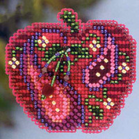 Jeweled Apple Beaded Cross Stitch Kit Mill Hill 2013 Autumn Harvest