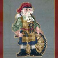 Jamestown Santa Beaded Ornament Kit Mill Hill 2013 Colonial Santas