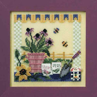 Potting Table Cross Stitch Kit Mill Hill 2008 Buttons & Beads Spring