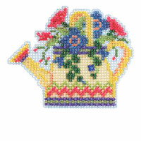 Floral Watering Can Stitch Kit Mill Hill 2015 Spring Bouquet MH185106