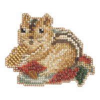 Chippy Beaded Cross Stitch Kit Mill Hill 2015 Autumn Harvest MH185205