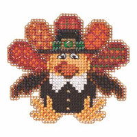 Tom Turkey Beaded Cross Stitch Kit Mill Hill 2015 Autumn Harvest MH185202