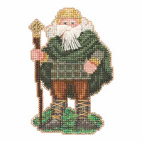Ireland Santa Beaded Ornament Kit Mill Hill 2015 Celtic Santas MH205303