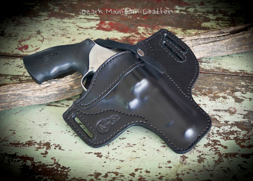 Leather Holster for Medium to large frame guns shown in black