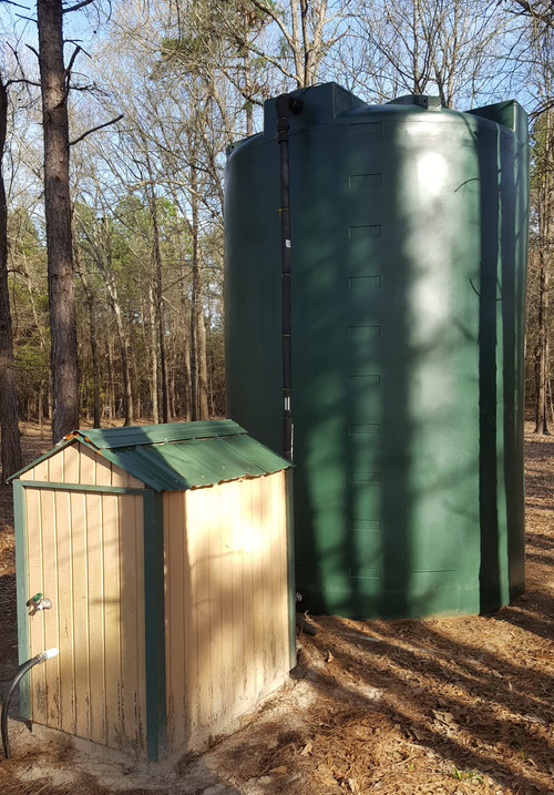 5000 Gallon Well Water Storage Tank (Tall) green & 5000 Gallon Water Storage Tank - Tall