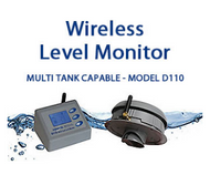 Aquatel D110-S Wireless Tank Level Monitor with RS-232 interface