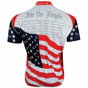 """U.S. Constitution """"We The People""""  Cycling Jersey by World Jerseys Short Sleeve Mens with Socks"""