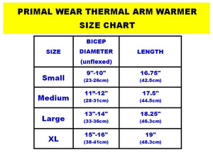 Primal Wear Black Thermal Arm Warmers Sleeves - armwarmers
