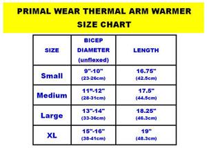 Primal Wear Black Thermal Arm Warmers Sleeves - armwarmers
