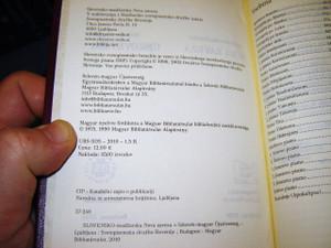 Hungarian - Slovenian Bilingual New Testament / Slovensko - Madzarska Nova Zaveza