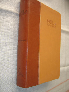 Bibla E Studimit / Albanian Thompson Chain Study Bible / Leather Bound with Thumb Index