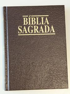 Portuguese Bible with Golden Edges Printed in Brasil / A Biblia Sagrada / Anti...