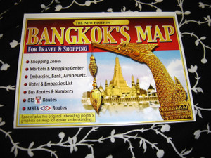 Bangkok's Map For Travel & Shopping - The New Edition / Bilingual Thai - English Map
