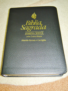 Black Portugues Bible with Maps and References and a 640 Song Hymnbook At the End