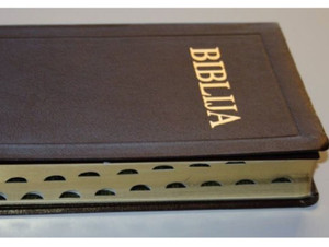 Croatian Leatherbound Bible - Golden Edges, Thumb Index / Biblija Sveto Pismo...