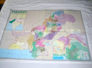 Pakistan Administrative Divisions Map / Scale 1:2,250,000 - Full Color Wall Map