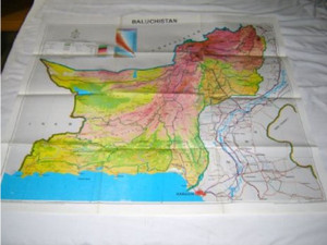 Baluchistan Map Pakistan / Scale 1:1,000,000 [Map] by Pakistan Survey