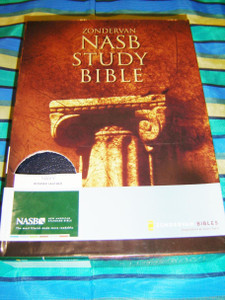NASB STUDY BIBLE / New American Standard / Bonded Leather Navy Blue