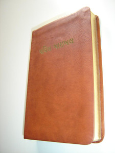 Gujarati Holy Bible Easy-to-Read Version / Bonded Leather Bound with Golden Edges