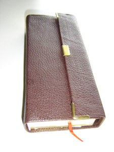 Daniel Pocket Malayalam Bible / Leather Bound with Golden Edges with button flap
