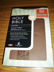 NKJV Holy Bible Giant Print Reference Edition / Reduce Eye Strain 11 pt.