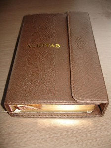 Slimline Indonesian Bible ALKITAB / Leather Bound, Thumb Index, Golden Edges, Magnetic Flip to close and open