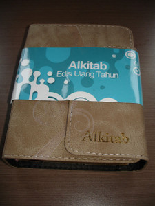 Indonesian Bible ALKITAB Edisi Ulang Tahun / Thumb Index, Golden Edges, Magnetic Flip to close and open / Teks Alkitab Terjemahan Baru TB / Kamus