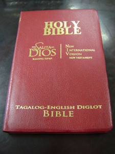 Tagalog - English New Testament BURGUNDY Cover, Golden Edges / Modern Tagalog Version