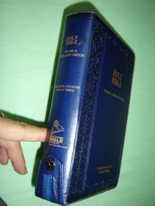 Tagalog - English Bilingual Bible / Luxury Dark BLUE Leather Bound