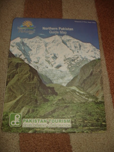 Northern Pakistan Guide Map / Map of Baltistan and Azad Jammu & Kashmir