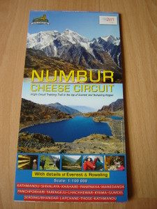 NUMBUR CHEESE CIRCUIT with Details of Everest & Rowaling / 1:100 000 / Virgin Circuit Trekking Trail in the lap of Everest and Rolwaling Region