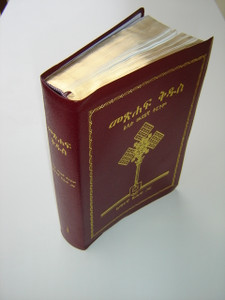 Amharic Study Bible / Burgundy Leather Bound with Golden Edges