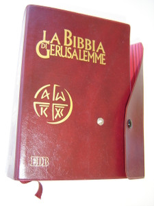 La Bibbia di Gerusalemme - The Jerusalem Bible in Italian Language / LA SACRA BIBBIA with Study Notes