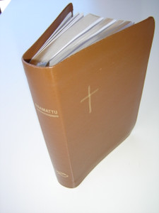 Finn Bible with Gold Cross / Pyha Raamattu / by Kansallery / Leatherbound Bible