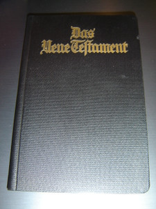 Historical German New Testament with Colored Maps  / BLACK Textured Cover / Printed and Published in 1932
