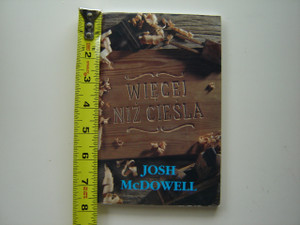 More Than a Carpenter by Josh McDowell / Polish Language Edition / Wiecei Niz Ciesla