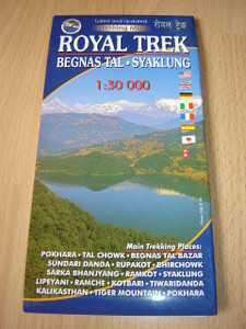 ROYAL TREK / Begnas Tail - Syaklung / 1:30 000 / Trekking Map Route Around the Lakes of Pokhara