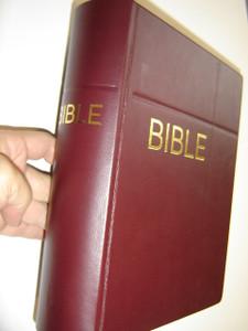 Czech Family Bible Burgundy Leather Bound / Rodinna Bible Cesky Ekumenicky Preklad 073 / Czech Pulpit Bible Large Print with Maps