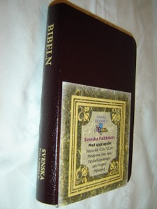 Swedish Bible / Burgundy Cover with Golden Edges / BIBELN - Den Heliga Skrift / Svenska Folkbibeln