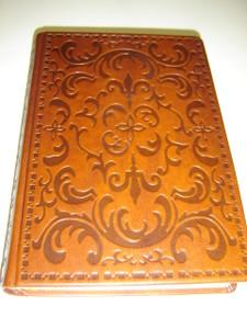 Latvian Bible Brown Decorated Leather Bound with Godlen Edges / Bibele 074 Dzimtas / 1965 gada izdevuma reidetais teksts ar pielikumiem