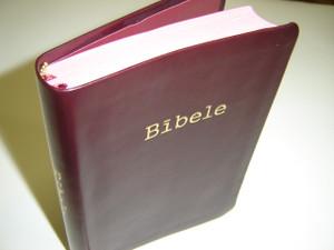 Latvian Bible Deep Burgundy Leather Bound / R65 Bibele 1965 gada izdevuma reidetais teksts ar pielikumiem