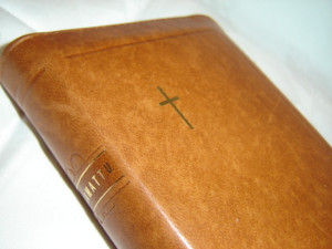 Finnish Luxury Brown Leather Bound Bible / Small Size, Small Size 96x142 mm, Zipper, Thumb Indexed / Pyha Raamattu