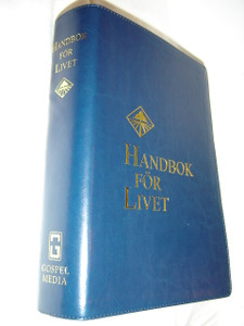 Swedish Life Application Study Bible / Handbok For Livet / Gospel Media Blue Cover